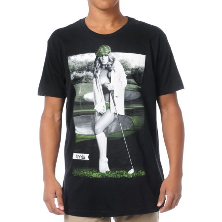 TMLS Hole In One Black Tee Shirt