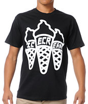 ICECREAM Multi Cone Black Tee Shirt