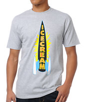 ICECREAM Rocket Heather Grey Tee Shirt