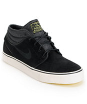 Nike SB Zoom Stefan Janoski Mid Black & Electric Yellow Suede Skate Shoe
