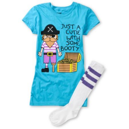 Bitter Sweet Booty Graphic Tee & Socks Pack