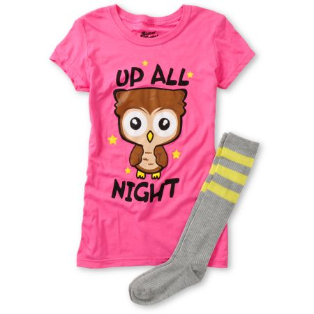 Bitter Sweet Up All Night Graphic Tee & Socks Pack