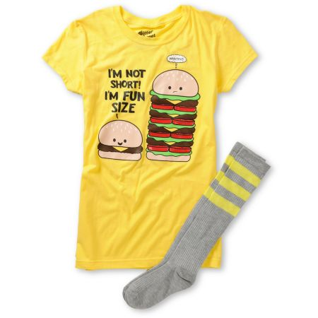 Bitter Sweet Fun Burger Graphic Tee & Socks Pack