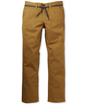 Empyre Skeletor Dark Khaki Slim Chino Pants