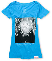 Diamond Supply Girls Sacred Heart Turquoise Tee Shirt