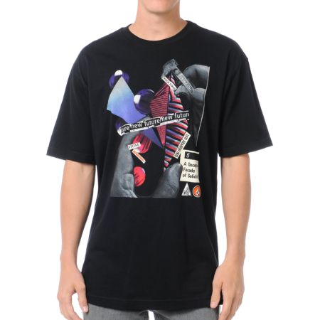 Volcom Rocktypes Black Tee Shirt