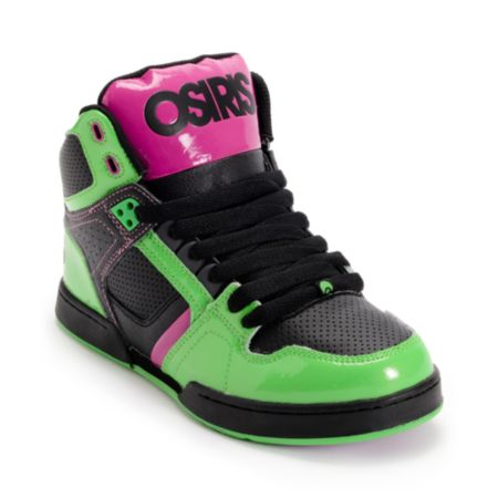 Osiris Kids NYC 83 Purple, Black & Lime Skate Shoe
