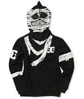 DC Boys Wrapped Up Black Face Mask Hoodie