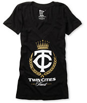 Rep MN Twin Cities Finest Black V-Neck Tee Shirt