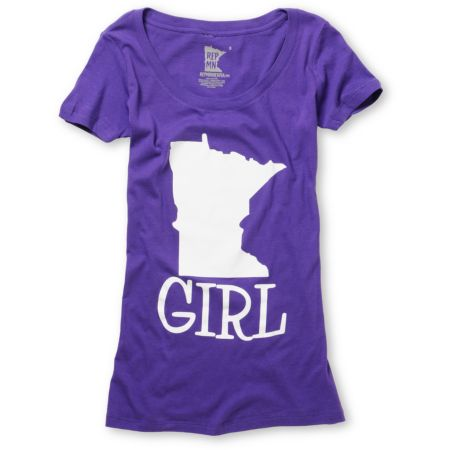 Rep MN Girl Purple Scoop Neck Tee Shirt
