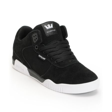 Supra Ellington Black & White Skate Shoe