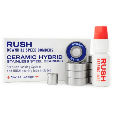 Rush Ceramic Hybrid Skateboard Bearings