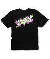 Fox Boys Alarmed Black Tee Shirt