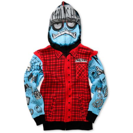 Metal Mulisha Boys Wrench Head Full Zip Face Mask Hoodie