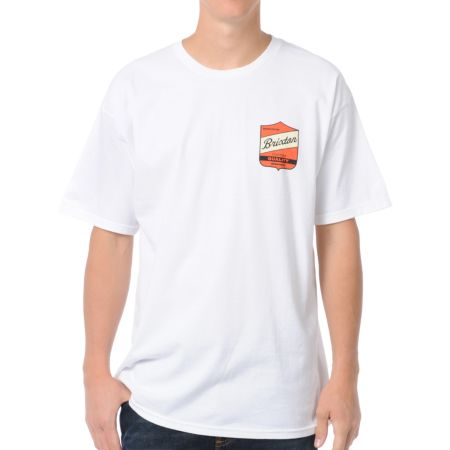 Brixton Ratchet White Tee Shirt
