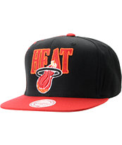 NBA Mitchell and Ness Miami Heat Side Logo Snapback Hat
