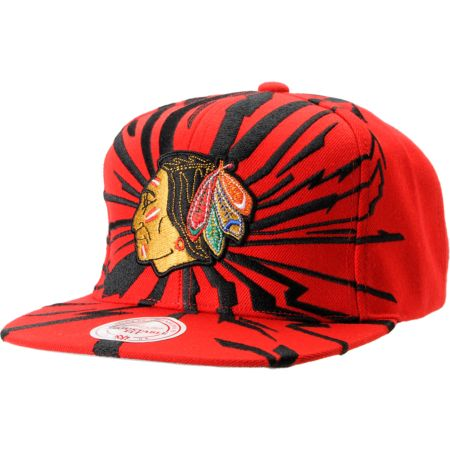 NHL Mitchell and Ness Chicago Blackhawks Earthquake Snapback Hat