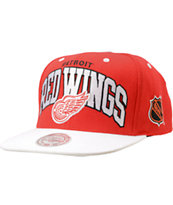 NHL Mitchell And Ness Detroit Red Wings White Arch Snapback