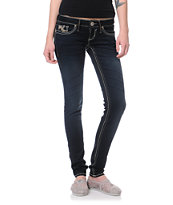 Hydraulic Hannah Ultra Dark Blue Super Skinny Jeans