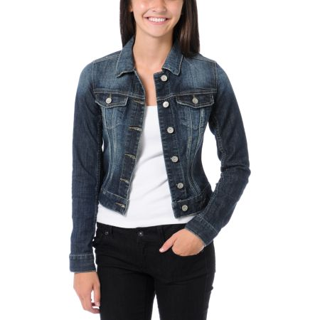 Almost Famous Dark Indigo Jean Jacket