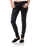 Almost Famous Corrie Black Animal Print Skinny Jeans