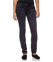 Almost Famous Terry Purple Acid Wash Skinny Jeans