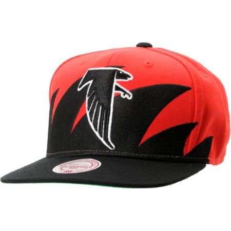 NFL Mitchell and Ness Atlanta Falcons Sharktooth Snapback Hat