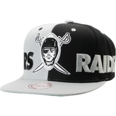 NFL Mitchell and Ness Los Angeles Raiders The Split Snapback Hat