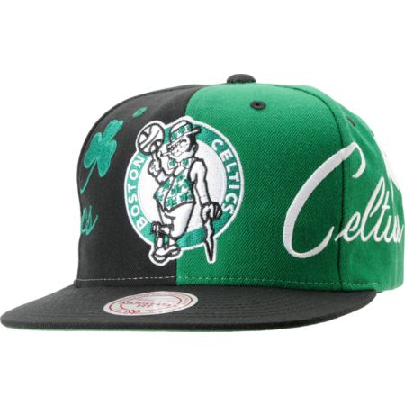 NBA Mitchell and Ness Boston Celtics The Split Snapback Hat