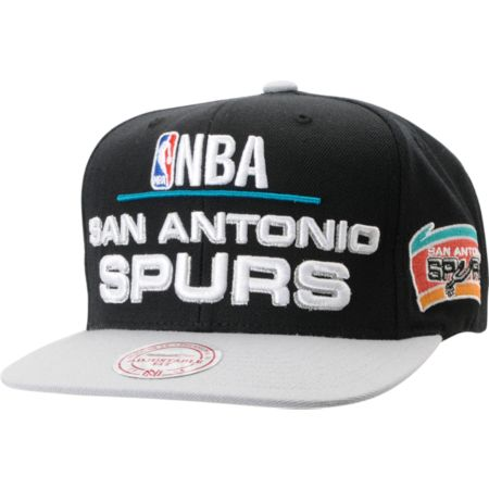 NBA Mitchell and Ness San Antonio Spurs Media Day Snapback Hat