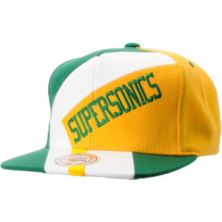 NBA Mitchell and Ness Supersonics One-On-One Snapback Hat