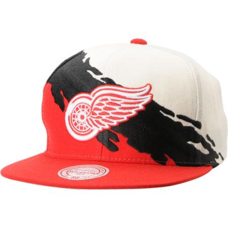 NHL Mitchell and Ness Detroit Red Wings Paintbrush Snapback Hat