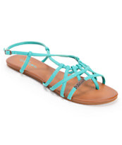 Volcom Girls No Sweat Teal Creedler Sandals