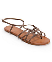 Volcom Girls No Sweat Brown Creedler Sandals
