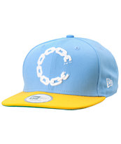 Crooks and Castles Chain New Era Blue & Yellow Snapback Hat