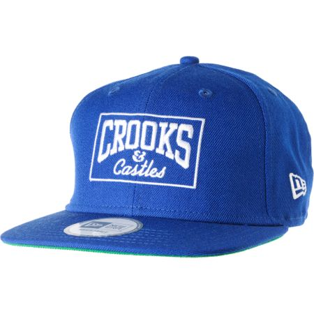 Crooks and Castles Box Logo New Era Snapback Hat