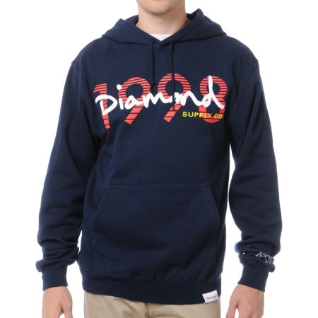 Diamond Supply OG Script 1998 Navy Pullover Hoodie