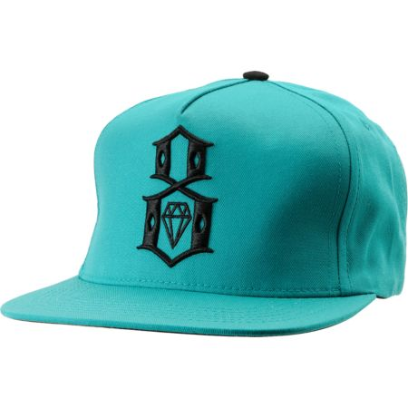 REBEL8 R8 Logo Teal Snapback Hat