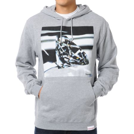 Diamond Supply Brilliant Glass Heather Grey Pullover Hoodie