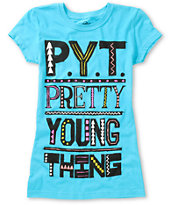 A-Lab Girls Pretty Young Turquoise Tee Shirt