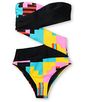 Volcom Girls Block Box One Piece Swimsuit