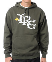 LRG Resolutionary Thinking Olive Green Pullover Sweatshirt