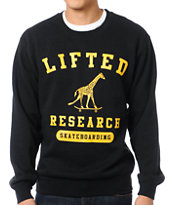 LRG Lifted Academy Black Crew Neck Sweatshirt