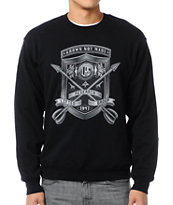 LRG Shield With Arrows Black Crew Neck Sweatshirt