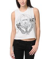Obey Pro Art Martine Johanna Crop Cut Off Tank Top