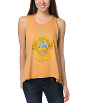 Obey Aztec Gold Open Back Tank Top