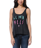 Glamour Kills Venice Logo Charcoal Tank Top