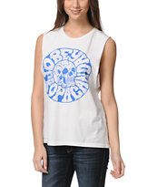 Obey Junkie Natural Moto Cut-Off Tank Top