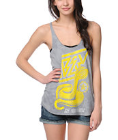 Obey Cobra Attack Grey Tie Dye Tank Top