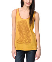 Obey Venomous Fashion Yellow Rookie Tank Top
